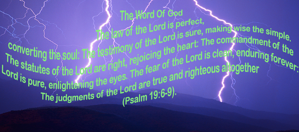 The Word of God is perfect